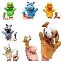 Большой для Папа / мама маленький для детей 12 дети животных детское образование пара плюшевые игрушки палец куклы