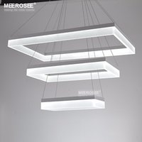 Modern LED Chandelier Lights Acrylic 3 Rectangles LED Suspension Light Lamp para Living Dinning Room unique singular Chandelier