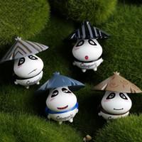 Fai da te Miniature Resina Cartoon Panda Bear Mini Figurine Fairy Garden Micro Landscaping Moss Terrarium Decorazione domestica succulenta