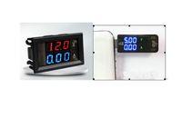 Ajuste el paquete USB DC3.5VDC20V Cargador Amperímetro Voltímetro + Digital DC 4.5V-30V Voltaje Medidor de corriente Rojo Azul LED Pantalla doble