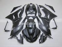 川崎忍者zx6R 09 10マットブラックボディワークフェアリングセットZX6R 2009 2010 GT02