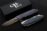 Free shipping quality CH3501 Flipper folding knife AUS- 10 Bl...