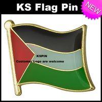 Флаг Палестины Значок Флаг Pin 10 шт. Много Бесплатная Доставка KS-0027