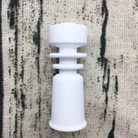 DabWorthy Female Universal Domeless 14mm Keramiknagelkühlkörper Design passend für 14,5 männliche jonit NP52