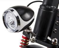 24v36v48v Universal-LED-Frontleuchte mit Hupe für Roller E-Bike Moped Dreirad Scheinwerfer mit Schalter Umbauteil