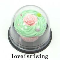 100 stks = 50 sets Clear Plastic Cupcake Cake Dome Gunsten Boxen Container Bruiloft Decor Geschenkdozen Bruiloft Cakedozen Benodigdheden