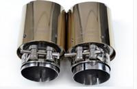 Titanyum Altın Giriş51 / 54/57/60 / 6380mm outlet90 / 101mm 304 Paslanmaz Çelik egzoz İpucu egzoz borusu susturucu