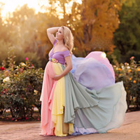 Colorful Prom Dresses For Pregnant Woman Chiffon Off The Sho...