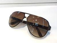 2252 الرجال الكلاسيكية تصميم النظارات الشمسية الأزياء البيضاوي إطار طلاء 2252 ثانية النظارات الشمسية uv400 عدسة ألياف الكربون الساقين الصيف نمط النظارات مع مربع