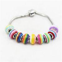 Rainbow Allentato Charm Brank Sostituzione 925 Argento Placcato Moda Donna Gioielli Stile europeo per la collana del braccialetto Pandora