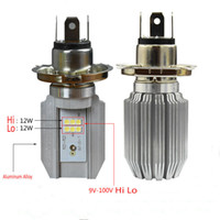 H4 Led Headlight Bulbs in Car Light Source Hi Lo Beam Motorb...