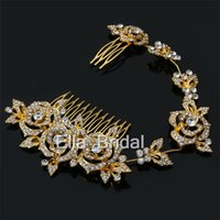 Gold Silver Bridal Hair Jewelry Beautiful Wedding Crystalsl ...