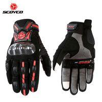 Motorfiets Scooter Touch Handschoenen Koolstofvezel Beschermende racewielen Siliconen Motos Motocicleta Heren Scoyco MC20 Guantes