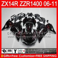 Corpo per Kawasaki ZZR1400 14 R ZX14R 06 07 08 09 10 11 63HM16 fiamme rosse ZZR 1400 ZX14R ZX 14R 2006 2007 2008 2009 2010 2011 carenatura