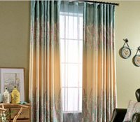 Beautiful High Quality American Country Type Lavender Floral Photo Print Window  Blackout Curtain For Living Room Bedroom Hotel Wholesale Fabric Price