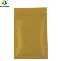 8.5 * 13 cm Couleurs thermoscellable Feuille d'aluminium ziplock alimentaire bonbons paquet sac petit 3 MIL Plat Bottom or zip sac de verrouillage 100 pcs