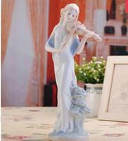 Decorazione Arti artigianato ragazza regali Antica SIBAOLU Elegante ceramica bellezza scultura ornamenti decorazioni per la casa moderna