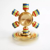 Latão Hexagonal Fidget Spinner Hexa-spinner EDS Rotação Anti-stress Spinners De Metal Cooper Fidget Spinner Descompressão Novidade Brinquedo 60 pcs