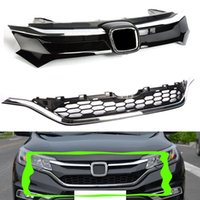 A LOT 2 pcs For Honda CRV 2015- 16 Car Front Bumper Cover Gri...