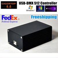 Freeshipping DMX512 Stage Lighting Controller HD512 USB Interface Lose Function Dual Power Supply Martin/Avolites Software WIN10