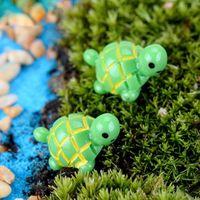 artificiali simpatici animali tartaruga verde fata giardino miniature mini gnomi molluschi terrari figurine in resina per decorazione del giardino