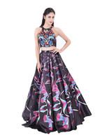 Modabelle Frauen Abendkleid Lange Vestidos Largos De Noche Bunte Dreidimensionale Zwei Picece Prom Dresses Party Dress