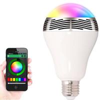 بلوتوث الذكية LED لمبة الموسيقى صوت المتكلم 6W الأبيض RGB مصباح الإضاءة E27 لمبة مراقبة لاسلكية يعمل مع الهاتف