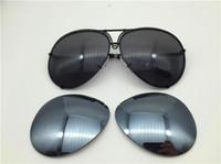 Auto-Marke Carras Sonnenbrillen P8478 ein Spiegel-Linsen-Pilotrahmen mit extra Linsenaustauschauto-Marke Große Größe Männer Marke Designer
