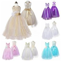 lace cocktail dresses Party Dress Flower Girl Princess Tulle...