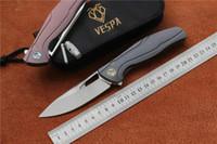 Heißer Verkauf VESPA F7 Klappmesser mit Klinge: M390 (Satin /) Griff: TC4 Outdoor-Camping-Jagd Tasche Obstmesser EDC Werkzeuge