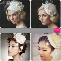 Hot sales Wedding Bride Headdress Pure hand lace cloth yarn ...
