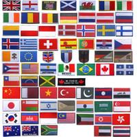 İşlemeli Rozetler Kol Bandı Çıkartmalar Taktik Avrupa Amerika Asya Okyanusya ABD Kanada İNGILTERE Fransa Almanya Rusya Japonya Ülke Bayrağı Yama