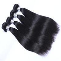 Kostenloser Versand Straight Haar für 8-30-Zoll-brasilianische malaysische peruanische indische remy-menschliche Haarverlängerungen 4 stücke Peruanisches Haar Schussfuß