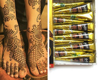 Siyah Doğal Hint Kına Dövme Macun Vücut Çizim için Siyah Kına Dövmeler Vücut Sanatı Boyama Yüksek Kalite 25g