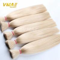 브라질 VMAE 머리 최고 품질의 머리 대량 브라질 처녀 꼬기 머리 확장 씨실 3 개 많은 당 100 % 인간의 가발