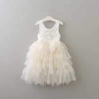 New Summer Baby Girls Crochet Lace Dresses Kids Girls Prince...
