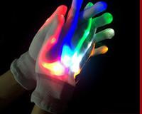 Mode LED Glow Handschoenen Mits Halloween Kerst LED Flash Handschoenen Wanten voor KTV Bar Vinger Knipperende Handschoenen Party Rave LED Finger Toy