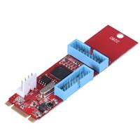 2 порта 19 20pin USB3.0 Женский к NGFF M. 2 B + M ключ мужской адаптер конвертер карты 4-контактный разъем питания драйвер не требуется