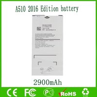 Sam A5 Için orijinal OEM Pil EB-BA510ABE 2016 A510 A510F 2900 mAh Ücretsiz Nakliye Toptan