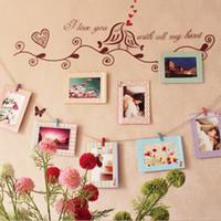 Marco de fotos Venta caliente Regalo creativo Papel tapiz de pared de marco colgante de pared de fotos de pared de bricolaje