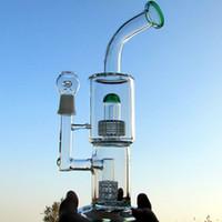 Toro 리사이클 등 복잡한 이중 오일 렌지 유리 봉 대형 워터 파이프 퍼크 연기가 나는 파이퍼 18mm 공동 두꺼운 팔 32cm 높이