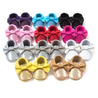 Sequins Baby Moccasins Infant Shoes Soft Sole Branded Kids S...