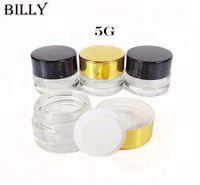 5 جرام وعاء زجاجي شفاف لكريم ، شمع ، من الضروري النفط ، مستحضرات التجميل - حاوية فارغة بحجم 5 مل - زجاجة تغليف قابلة لإعادة التعبئة