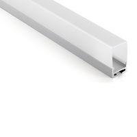 10 X 1M insiemi / lot U tipo di profilo in alluminio anodizzato e AL6063 T6 ha condotto profilo 1M per illuminazione soffitto o pendente