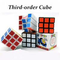 Troisième ordre 5.6X5.6X5.6 Rubrique Magic Cube Vitesse Professionnelle Carré Cube Puzzle Cube Avec Autocollants Enfants Casse-tête Cubo Magico Jouets