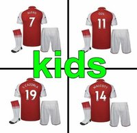 top quality 2017 2018 gunners home red kids kit with socks s...