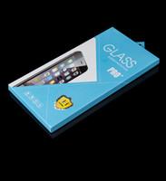 1000 stks Groothandel Mode Kleurrijke Papier Verpakkingsdoos 9H gehard Glas Screen Protector voor iPhone 6s 6Plus Samsung Galaxy HTC LG