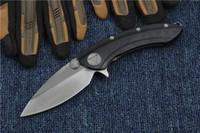 Özel Teklif Yeni Balina Köpekbalığı Flipper Katlanır bıçak D2 Saten Blade G10TC4 Titanyum Alaşım Kolu EDC Cep Katlanır Bıçaklar Taktik bıçak