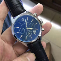 2018 Luxury Brand Maserati Casual leather band chronograph s...