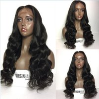 Top Quality 150 density Human Peruvian Front Lace Wigs Full ...